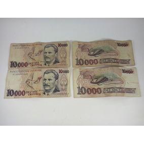 Notas Antigas Cedulas Dinheiro Antigo 10000 Cruzeiros
