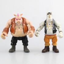 Kit 2 Bonecos Tartarugas Ninjas Bebop E Rocksteady Articulad