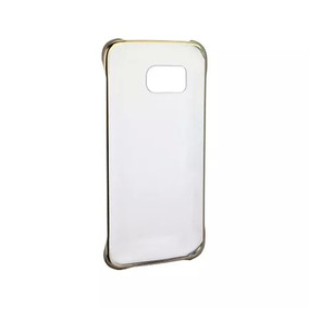 Funda Clear Cover Original Samsung Galaxy S6 Edge Gold