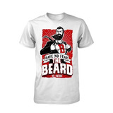 Remera Have No Fear The Beard Is Here Funny Superhero