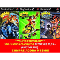 Combo Crash Of The Titans Para Playstation (kit 3 Jogos Ps2