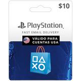Tarjeta Psn $10 Digital -valida Usa | Entrega Inmediata