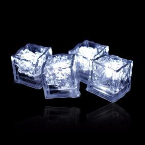 12 Cubos De Hielos Luminosos Led Color Blanco Sumergibles