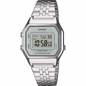 Reloj Casio La680 Wa7 Plata De Moda Retro