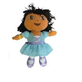 Mochila Dora La Exploradora Vestido Azul Felpa Figura Mochil