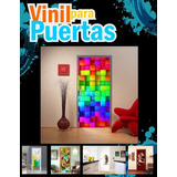 Vinil Decorativo Para Puertas 2.1 X 0.9 M