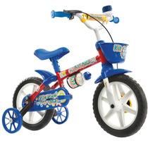 Bicicleta Kit Kat Aro 12 Azul/ Verm Track Bikes Unid.