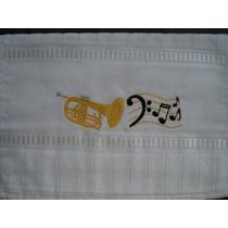 Toalha Bordada Instrumentos Musicais Trombonito