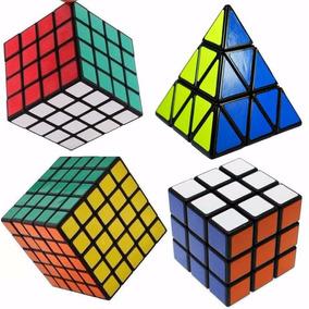 Kit Cubo Mágico 3x3x3 4x4x4 5x5x5 Pyraminx Shengshou
