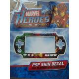Psp Skin Decal Marvel Héroes Hulk Iron Man Spider Man