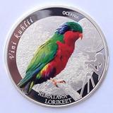 Islas Cook - Moneda 2 Dólares 2016 Loro-plata .9999 / Color