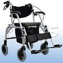 Andador 2 Em 1 Cadeira Rodas Dobrável Adulto Idoso Luxo 808