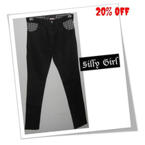 Calça Silly Girl Fiona Ad Fem Jeans Bla Skate Punk Rock Wear