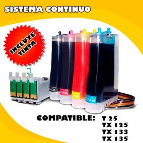 Sistema Continuo Para Epson T25/tx125/tx135/cx3700/cx5600