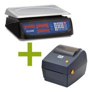 Kit Elgin Pdv  Balança Dp 15kg Com Impressora Etiqueta L42dt