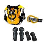 Kit Proteção Motocross Trilha Enduro Pro Tork 4 Itens