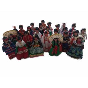25 Muñecas Con Trajes Típicos Mexicanos