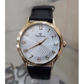 Relógio Social Masculino Champion Ch22706m Pulseira De Couro
