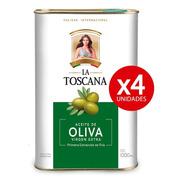 Aceite De Oliva Virgen Extra La Toscana. Pack 4 Latas X 1 Lt