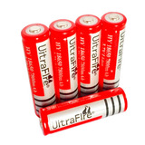 15 X Bateria 18650 Litio 3.7v 7800mha Red Linternas Li-ion