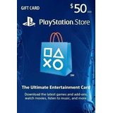 50 Usd Psn Playstation Store Gift Card - Ps3/ Ps4/ Ps Vita
