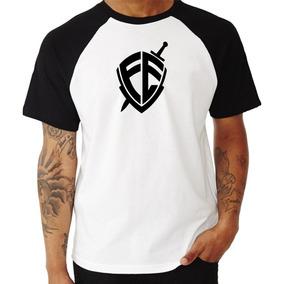 Camisa Camiseta Escudo Fé Andre Valadao Raglan Gospel
