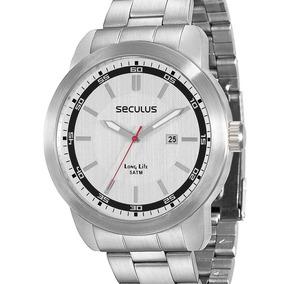 Relógio Seculus Masculino Cromado - 28850g0svna2