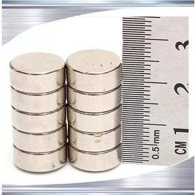 Imãs De Neodímio / Super Forte / 10 Mm X 5 Mm * 10 Peças*
