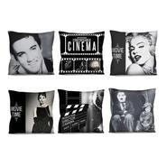 6 Capas De Almofada Cinema Retrô Vintage 42x42 A Escolha