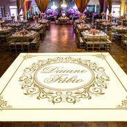 Pista De Dança Para Casamento Dourado Realeza Ps21 - 5x5m