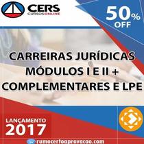 Carreira Juridica Cers 2017 + 2016 Brinde