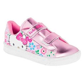 Tenis Hello Kitty Rosa Metalico