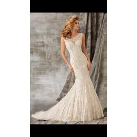 Vestido De Novia, Elegancia Distinción,corte Sirena Organza