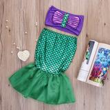 Fantasia Ariel Infantil 2 À 3 Anos Pequena Sereia