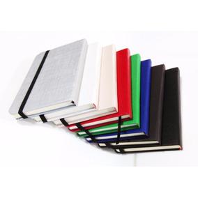 Caderno Pontilhado Em Couro Sintético. Diversas Cores