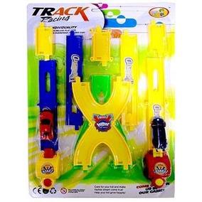 Carrinhos Track Pista De Corrida 2 Lançadores Brinquedo
