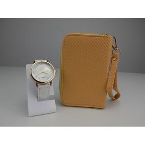 Kit Relógio Feminino + Carteira 100% Original Revenda Linda c717307e73