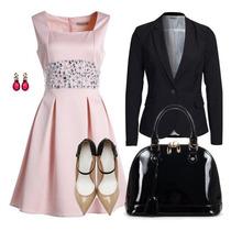Vestido +blazer Moda Evangelica Elegante Cod#llc+