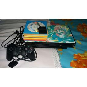 Playstation 2 Ps2 Fat Tijolão Usado 1 Controle 30 Jogos