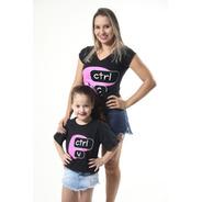 Kit Tal Mãe Tal Filha Camisetas Ctrl-c & Ctrl-v.