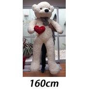 Urso De Pelúcia Gigante Creme 160cm Vai Cheio + Frete Grátis