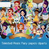 Kit Imprimible Pack Cliparts Tinkerbell Hadas Y Piratas