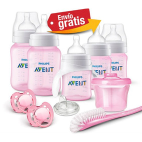 Biberones Avent Kit Set Recien Nacido Classic Plus Rosa