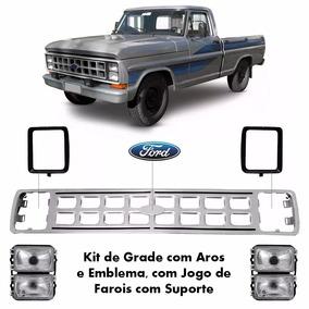 Grade Frontal + Farol F1000 F4000 Ano 82 À 92 (ferro)