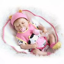 Boneca Bebê Reborn Dormindo De Silicone Pronta Entrega