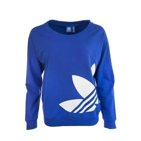 adidas Originals Buzo De Mujer Ll Sweater Azul