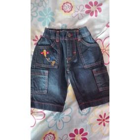 Pantalon Bermuda Jeans Para Niño
