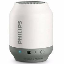 Speaker Philips Bluetooth Bt50w/37 Branco/cinza
