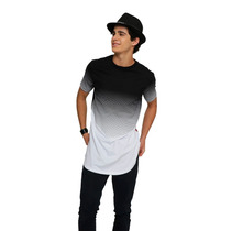 Playera Larga Hombre Alto Manga Corta Swag Moda Largas Long