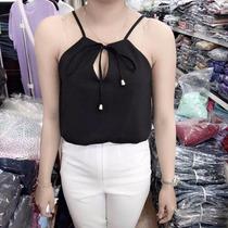 Blusas / Crop Tops De Tiras Casual Para Dama Moda Asiatica